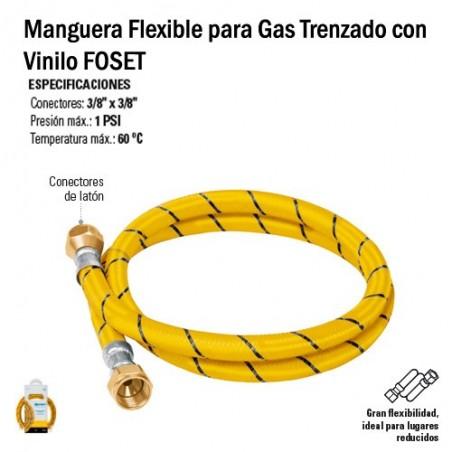 Manguera Flexible para Gas Trenzado con Vinilo FOSET