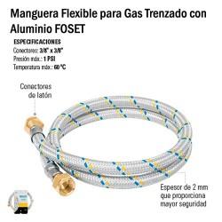 Manguera Flexible para Gas Trenzado con Aluminio FOSET