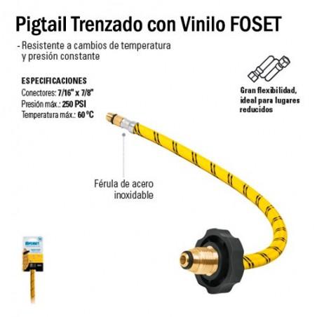 Pigtail Trenzado con Vinilo FOSET