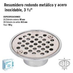 """Resumidero Redondo Metálico y Acero Inoxidable 3 1/2"""" FOSET"""