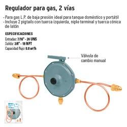 Regulador para Gas 2 Vias FOSET
