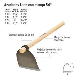 "Azadones Lane con Mango 54"" TRUPER"