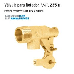 "Válvula para Flotador 3/4"" 235 g FOSET"