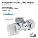 Llave Angular Compacta 1/4 de Vuelta Tipo Barrilito FOSET