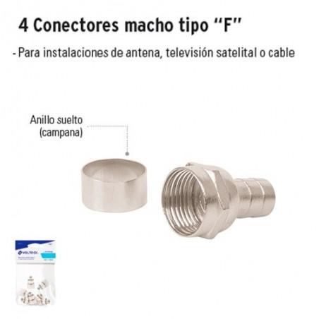 """Conectores Macho Tipo """"F"""" VOLTECK"""