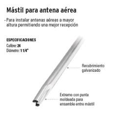 Mástil Para Antena Aérea VOLTECK