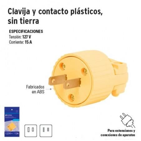 Clavija y Contacto Plásticos Sin Tierra