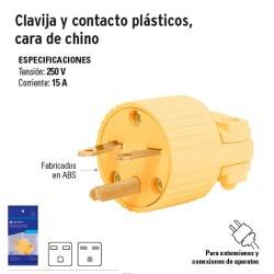 Clavija y Contacto Plásticos Cara de Chino