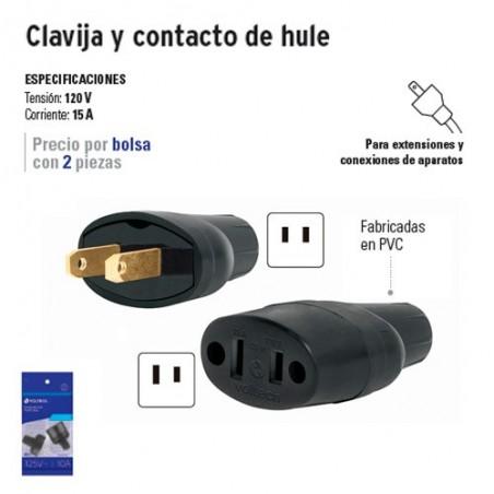 Clavija y Contacto de Hule