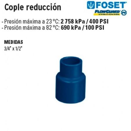 Cople Reducción de CPVC