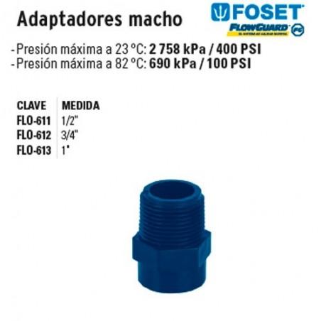 Adaptadores Macho de CPVC Azul FOSET