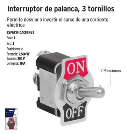 Interruptor de Palanca 3 Tornillos VOLTECK