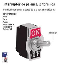 Interruptor de Palanca 2 Tornillos VOLTECK