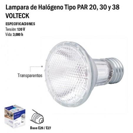 Lampara de Halógeno Tipo PAR 20, 30 y 38 VOLTECK