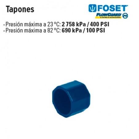 Tapones de CPVC Azul FOSET