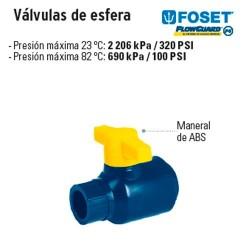 Valvulas de Esfera de CPVC Azul FOSET