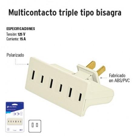 Multicontacto Triple Tipo Bisagra VOLTECK