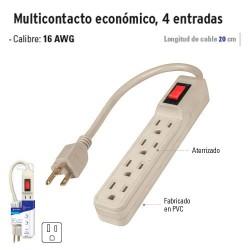 Multicontacto Económico 4 Entradas VOLTECK