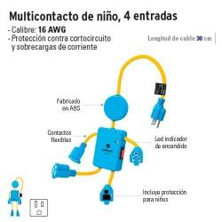 Multicontacto de Niño 4 Entradas VOLTECK