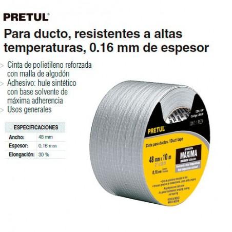 Cintas Para Ducto Resistentes a Altas Temperaturas 0.16 mm de Espesor PRETUL