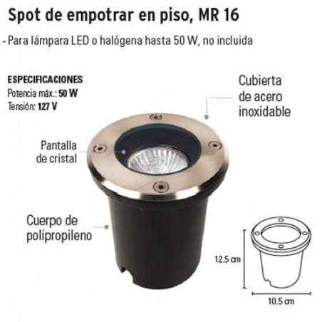 Spot de Empotrar en Piso MR 16 VOLTECK