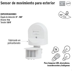 Sensor de Movimiento para Exterior VOLTECK
