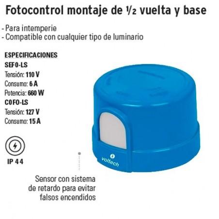 Fotocontrol Montaje de 1/2 Vuelta y Base VOLTECK