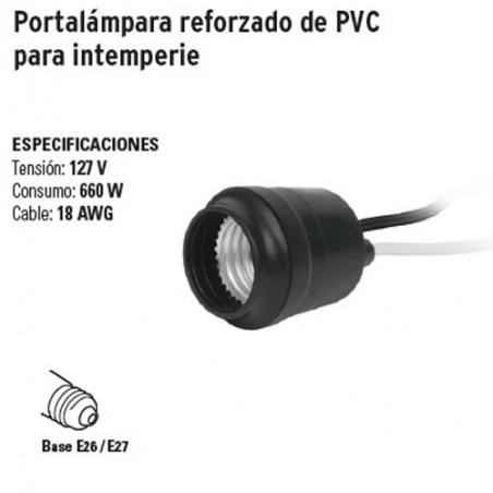 Portalámpara Reforzado de PVC para Intemperie VOLTECK