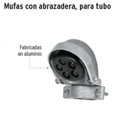 Mufa con Abrazadera Para Tubo VOLTECK