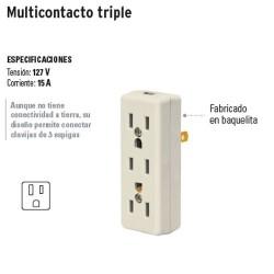 Multicontacto Triple VOLTECK