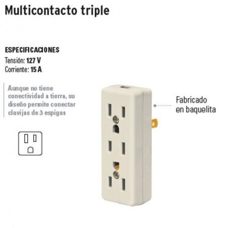 Multicontacto Triple para Extensión VOLTECK