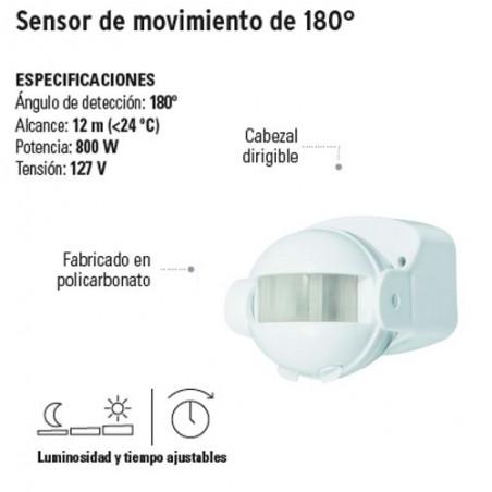 Sensor de Movimiento de 180° VOLTECK