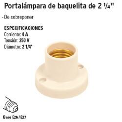 "Portalámpara de Baquelita de 2 1/4"" VOLTECK"
