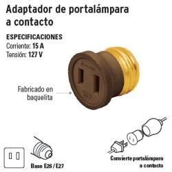 Adaptador de Portalámpara a Contacto VOLTECK