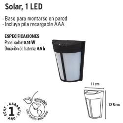 Arbotante Solar 1 Led VOLTECK