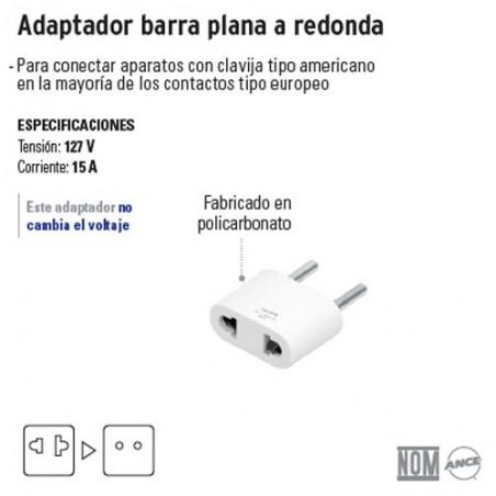 Adaptador Barra Plana a Redonda VOLTECK