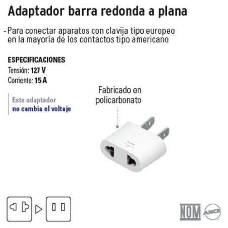 Adaptador Barra Redonda a Plana VOLTECK