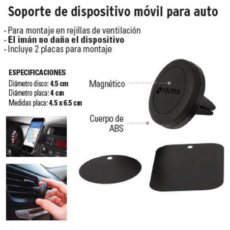 Soporte de Dispositivo Móvil Para Auto VOLTECK
