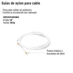 Guias de Nylon para Cable TRUPER