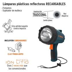 Lamparas Plásticas Reflectoras Recargables TRUPER