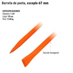 Barreta de punta, escoplo 67 mm TRUPER