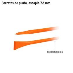 Barretas de punta, escoplo 72 mm TRUPER