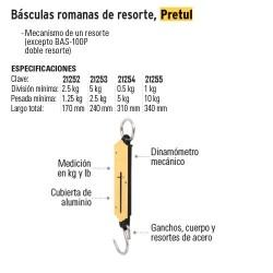 Basculas Romanas de Resorte PRETUL