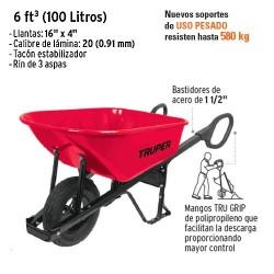 Carretilla 6 tf³ (100 Litros) TRUPER