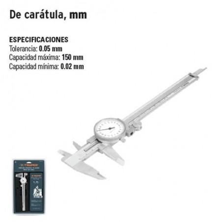 Calibrador Vernier de Caratula, mm TRUPER