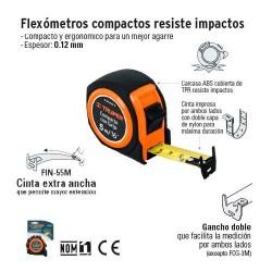 Flexometro Compacto Resiste Impactos TRUPER