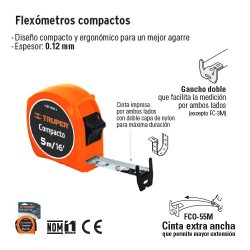 Flexometro Compacto TRUPER
