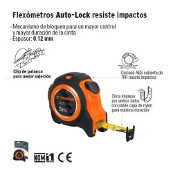 Flexometro Aulto-Lock Resiste Impactos TRUPER