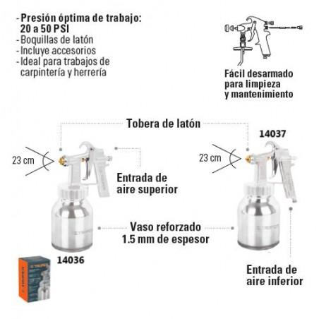 Pistola de Aire para Pintar Baja Presion Flujo Continuo TRUPER