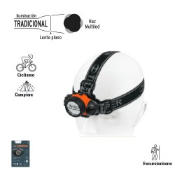 Linterna de Cabeza de Pilas con LEDS TRUPER